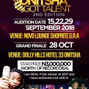 Onitsha Got Talent 2018 2nd Edition audition Dates And Venues