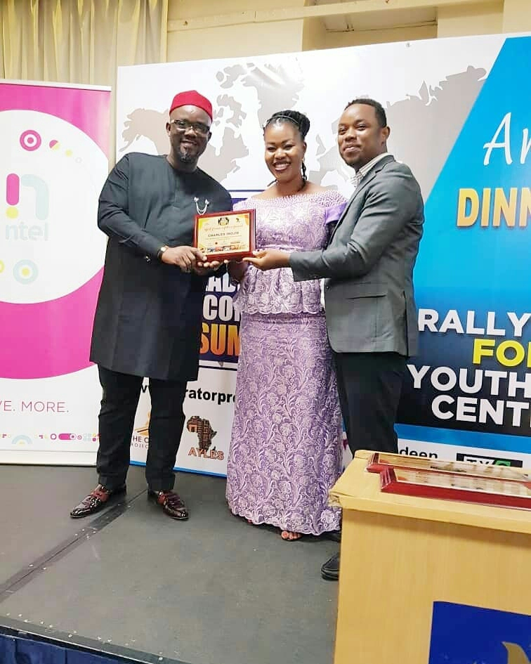 Charles inojie Secures Award From The African Youth Leadership Awards (Photos)