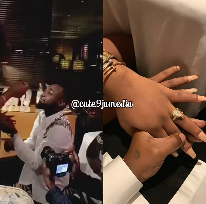 """""""She Said Yes"""" Davido Finally Proposed To Chioma (photos + Video)"""