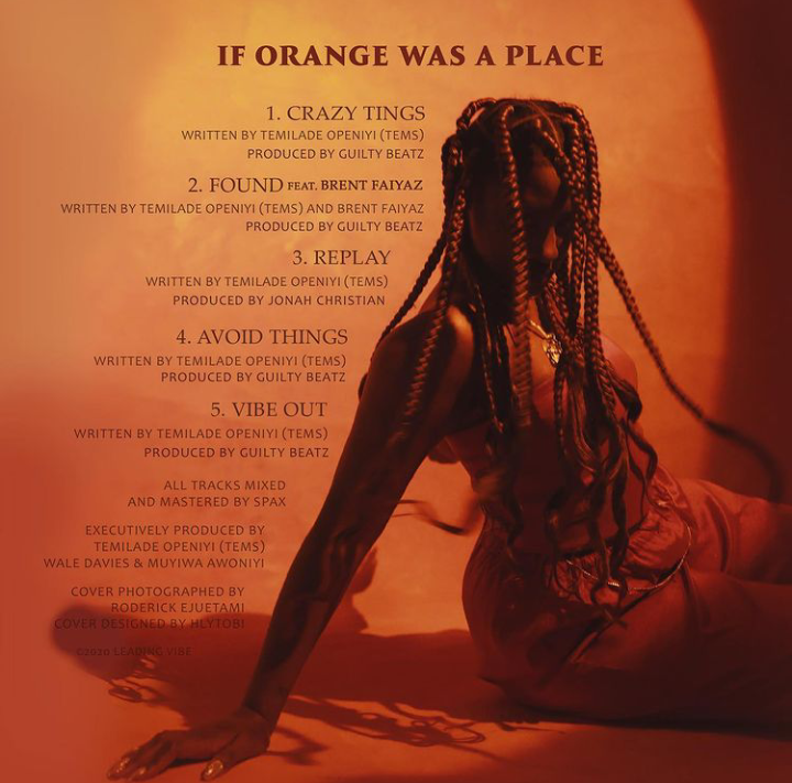 Tems If Orange Was A Place EP Zip Download